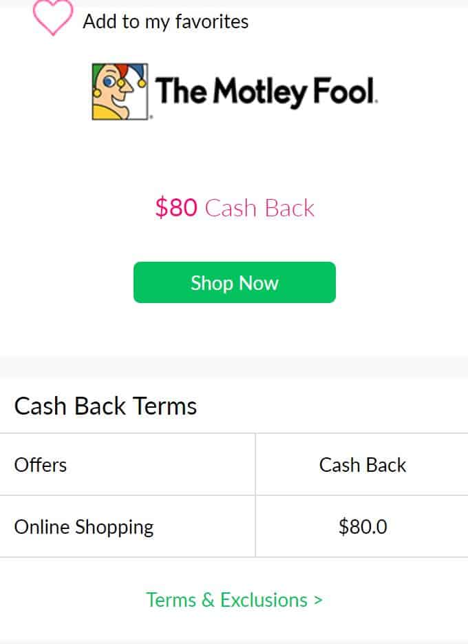 motley fool cashback