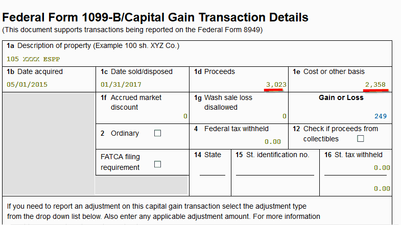 adjust espp cost basis 1099 cost basis entry