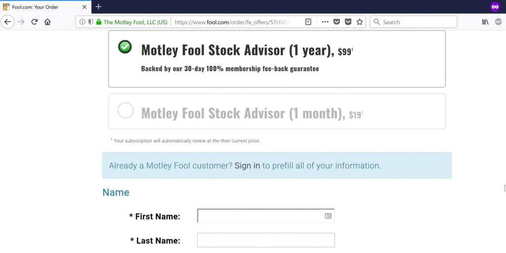 motley fool price stock advisor