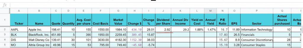 How to make a dividend tracking spreadsheet - Wealth Capitalist
