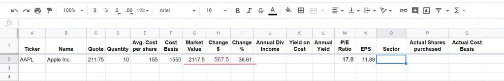 dividend tracking sheet 5