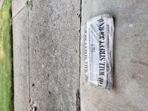 wsj subscription issue on porch